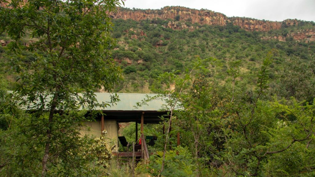Private deck with views at Black Leopard Mountain Lodge