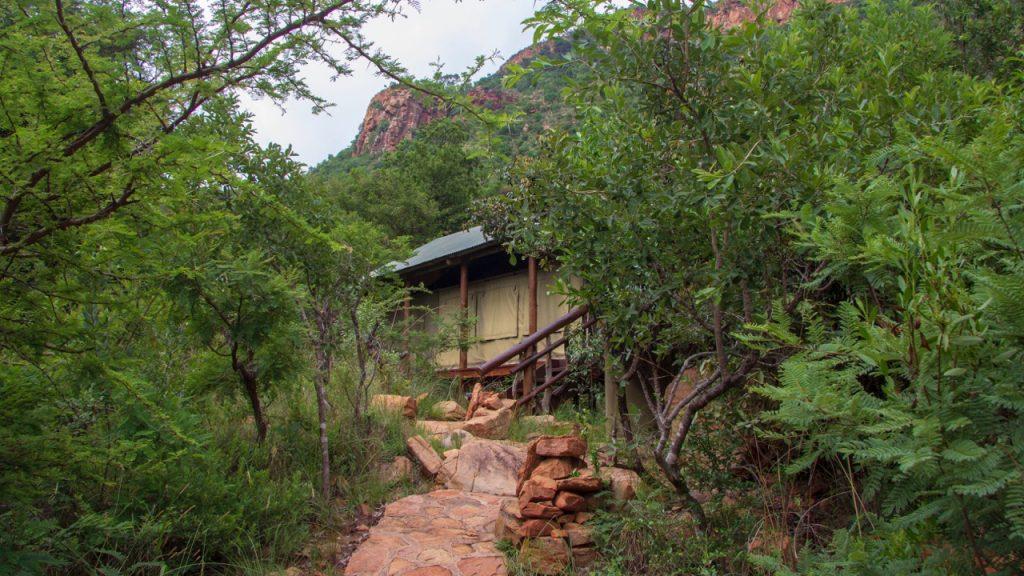 Luxury safari-style tent at Black Leopard Mountain Lodge