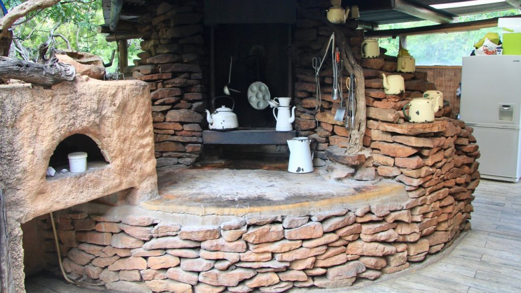 Master P's open kitchen at Black Leopard Mountain Lodge