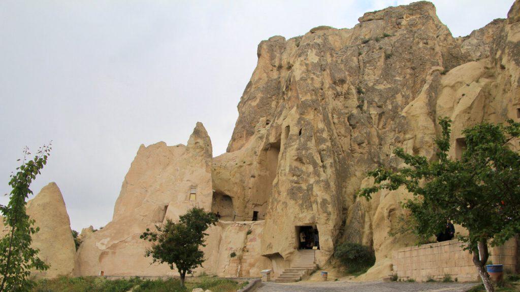 Staircase to the Karnalik Kilise at Goreme Open Air Museum in Cappadocia