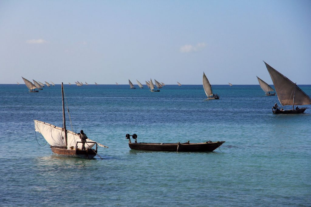 Dhows set out to sea