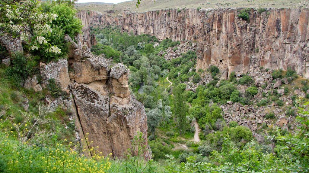 Ihlara Gorge in Cappadocia dressed in spring finery
