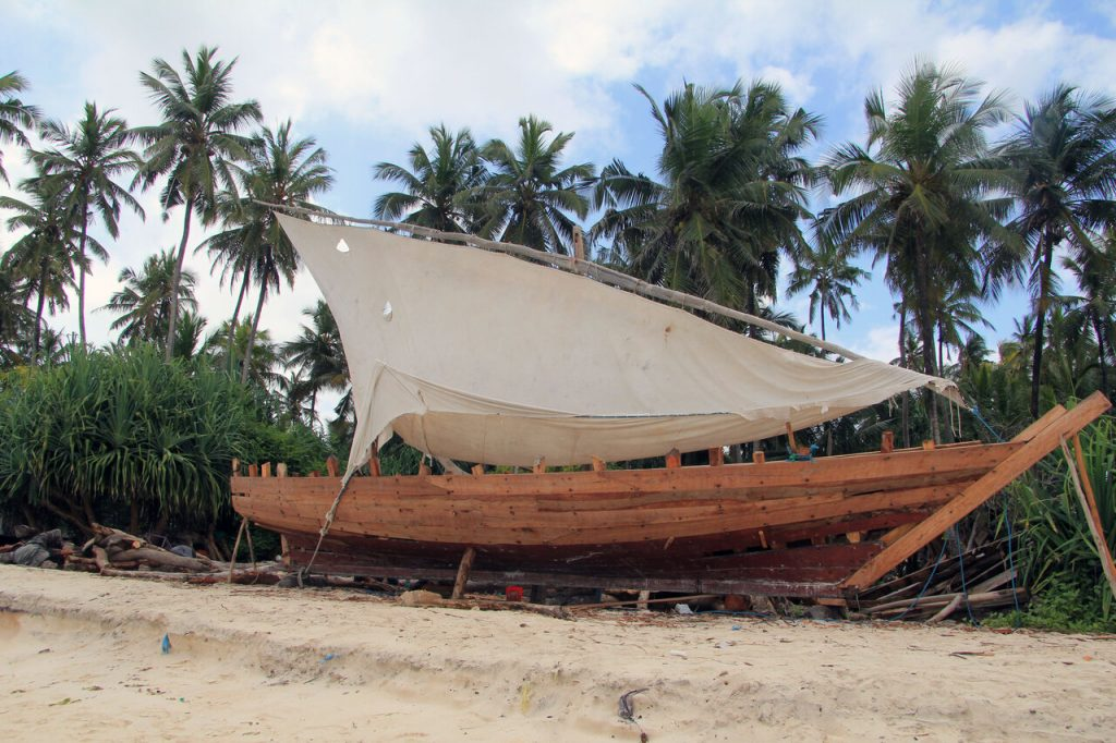 Dhow building yard