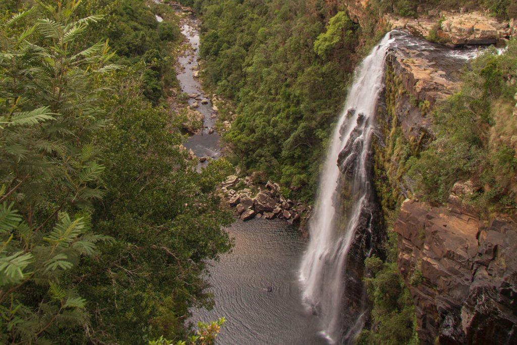 Lisbon Falls main falls and water pool