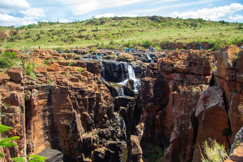 Treur River Falls at Bourke's Luck on the Panorama Route